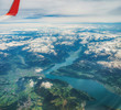 aerial view of the alps - 227927066
