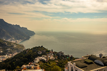 beautiful panorama visible from Ravello, Salerno, on the Amalfi coast © Ragemax