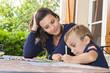 enfant et devoirs - 227941401