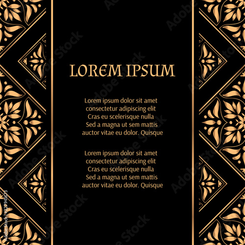 luxury background vector golden tile royal pattern for christmas or new year party art