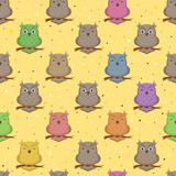 Seamless Background with Owls