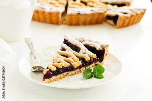 Foto Murales Freshly baked homemade blueberry pie.
