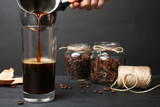 coffee poured in glass