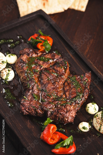 meat with vegetables - 227945694