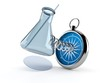 Chemistry flasks with compass