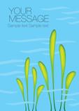 Aquatic Plant Vector Background - 227958453