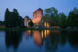 The ancient Olavinlinna fortress in July twilight. Savonlinna, Finland - 227968458