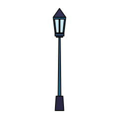 park lamp isolated icon