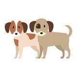 cute little dogs characters - 227994246