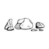 stones icon. sketch isolated object © APutin308