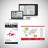 Template vector design ready for use for brochure, annual report or magazine - 228008411