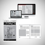 Template vector design ready for use for brochure, annual report or magazine - 228008481