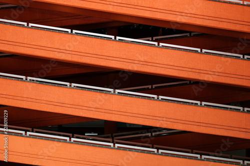 architectural pattern, multi-story stairway / walkway in building - - 228019229