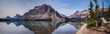 Bow Lake Panorama with Reflections