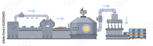 Seafood production process on the automated line