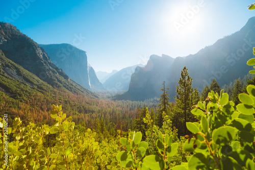 Leinwandbild Motiv Yosemite National Park at sunrise, California, USA