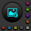 Adjust image contrast dark push buttons with color icons