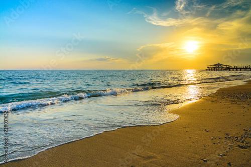 Golden Sunset on the beach