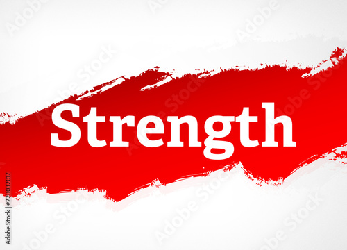 Strength Red Brush Abstract Background Illustration