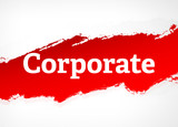 Corporate Red Brush Abstract Background Illustration - 228032421