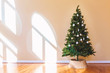 Decorated Christmas Tree in a large interior room