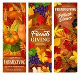 Autumn Friendsgiving holiday potluck dinner - 228036445