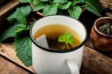 Green melissa herbal tea - 228057486