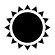 isolated sun icon