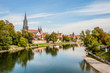 Leinwanddruck Bild - Panorama view of Ulm, Germany
