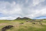 Panoramica del vulcano Rano Raraku cava dei moai
