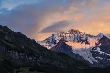 Swiss Mountain Sunset