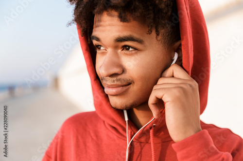 Close up of a relaxed young african teenager