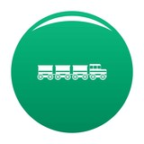 electric train icon. Simple illustration of electric train vector icon for any design green