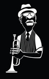 Caricature of a jazz trumpet player - 228093896
