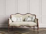 Classic sofa in classic interior with copy space - 228097415