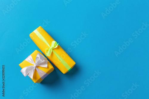 Leinwandbild Motiv gift box on color background