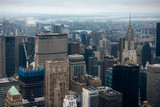 Aerial view of Manhattan skyscraper from Empire state building observation deck - 228108853