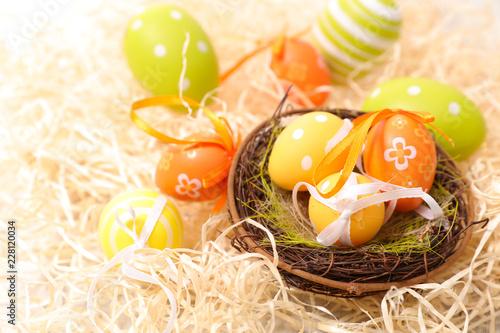 Leinwandbild Motiv easter egg painted