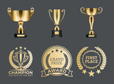 Champion Prizes Collection Vector Illustration - 228121451