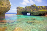 Natural arch over one of the Limu pools, Niue.