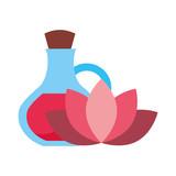 massage lotion bottle lotus flower spa healthy