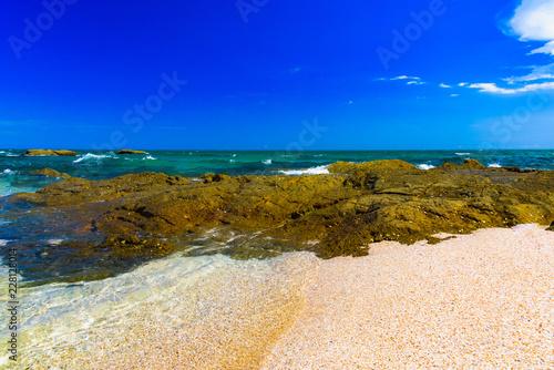 Leinwandbild Motiv rocky seashore beach