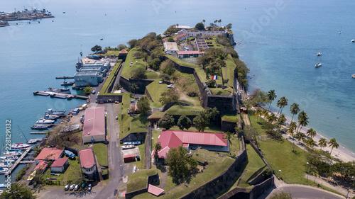Fridge magnet fort in caribbean