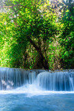 Landscape photo, Huay Mae Kamin Waterfall,Amazing waterfall in wonderful autumn forest, beautiful waterfall in rainforest at Kanchanaburi province, Thailand