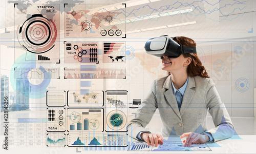 Leinwandbild Motiv Modern technologies for business people