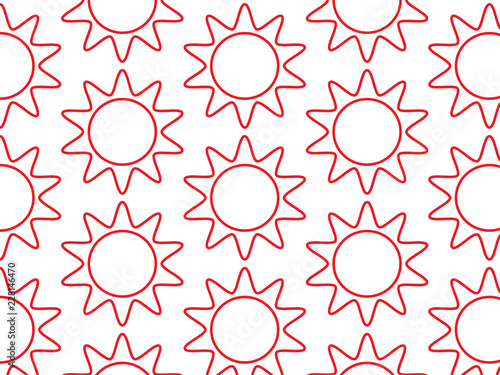 Sun vector pattern - 228146470