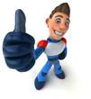 Leinwandbild Motiv Fun modern superhero - 3D Illustration
