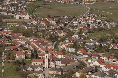 Fridge magnet Aerial view of the city
