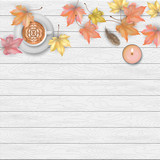 Autumn top view background