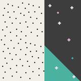 geometric dots cover design memphis background